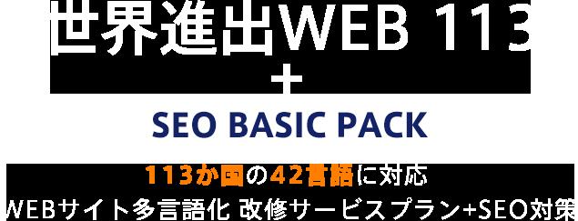 世界進出WEB 113 + SEO BASIC PACK